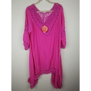 Lula Look Fuschia Swim Cover-up